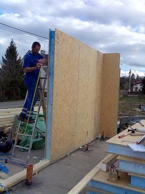 Založení rohu - stěn. panely
